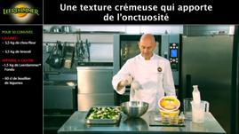 Présentation d'une recette culinaire pour la société Bel