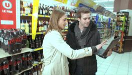 Reportage au steadicam dans un supermarché